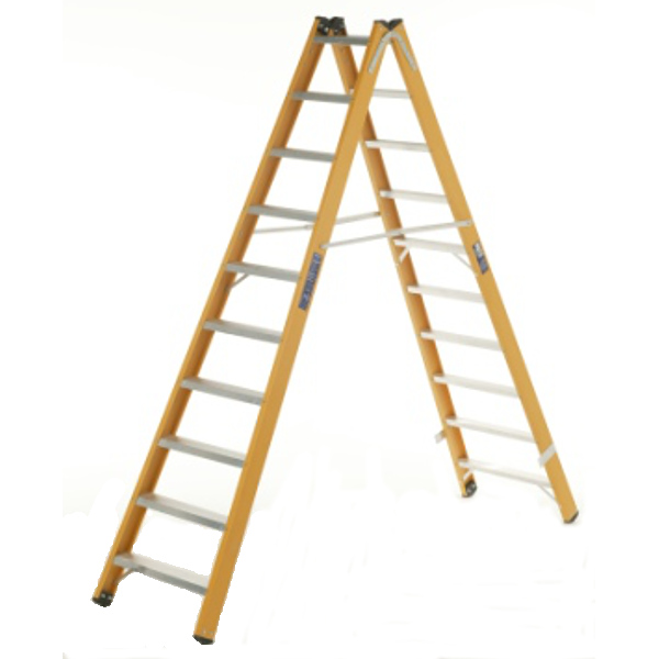 BRATTS LADDERS Glass Fibre Double Sided Steps