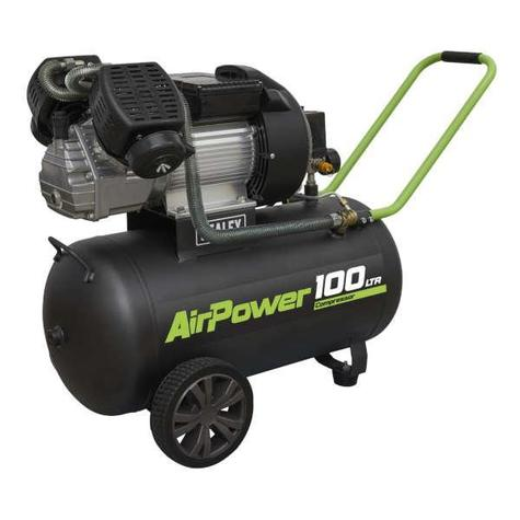 Compressor Sealey SAC10030VE 100L V-Twin Direct Drive 3hp
