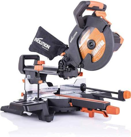 Evolution R255SMS + 255mm Multipurpose Sliding Mitre Saw 110V