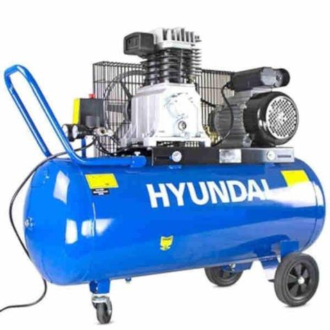 Air Compressor Hyundai HY3100P 3HP 100 Litre Twin Cylinder Belt Drive