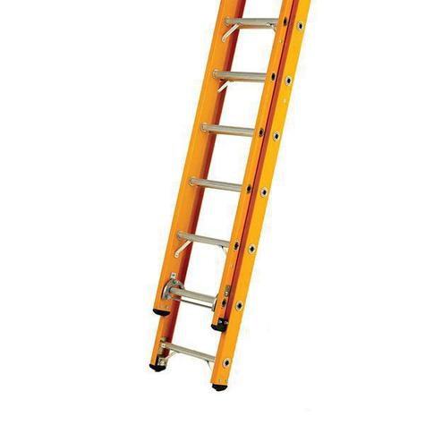 Bratts GL2R14 3.55m Rope-operated Glass Fibre Double Ladder