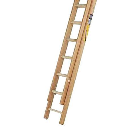 Bratts HHD11 Class 1 Timber Double Extension Ladder 3.28 metres