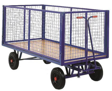 Mesh Box Truck Lift off side 1220x610x500kg Pneumatic Wheel TSK120NP