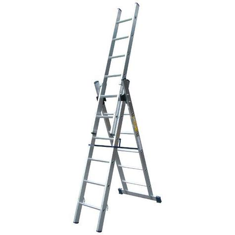 Lyte NLCL6 6 Rung Professional Aluminium Combination Ladder