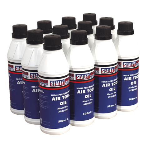 Air Tool Oil Sealey ATO/500 500ml Pack of 12