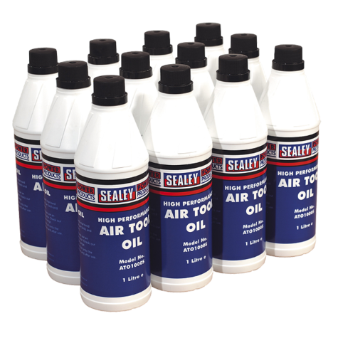 Air Tool Oil Sealey ATO/1000 1ltr Pack of 12