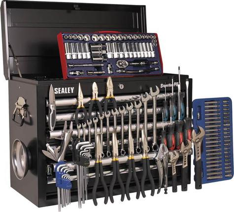 Tool Chest Sealey AP33109BCOMBO Topchest 10 Drawer plus Tools
