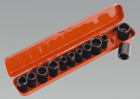 "Impact Socket Set Sealey AK682 12pc 3/8""Sq Drive"