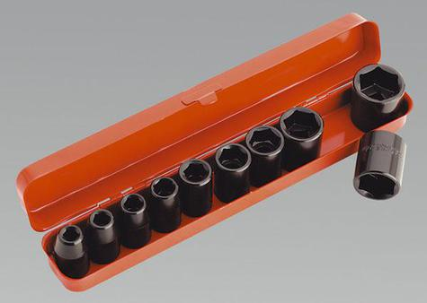 "Impact Socket Set Sealey AK56/11M 10pc 1/2"" Metric"