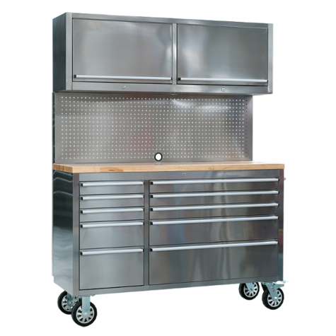Tool Cabinet Sealey AP5520SS Mobile Stainless Steel 10 Drawer