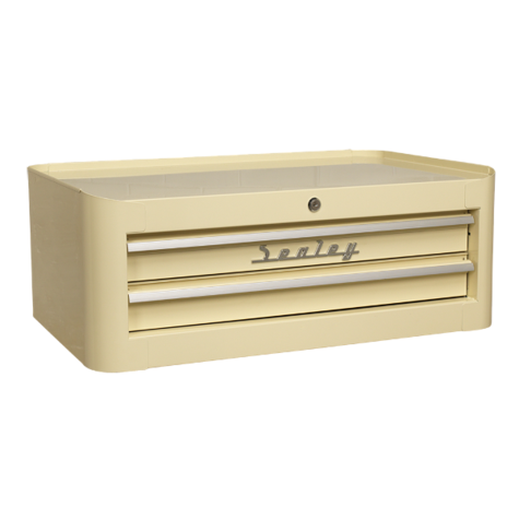 Tool Chest Sealey AP28102 Mid-Box 2 Drawer Retro Style Cream