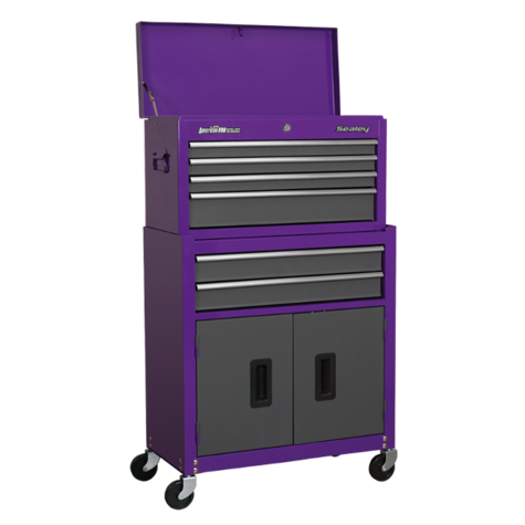 Tool Chest Sealey AP2200BBCP Combination 6 Drawer - Purple/Grey