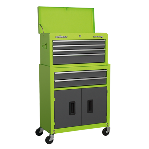 Tool Chest Sealey AP2200BBHV Combination 6 Drawer - Green/Grey