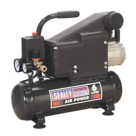 Compressor Sealey SAC0610E 6ltr Direct Drive