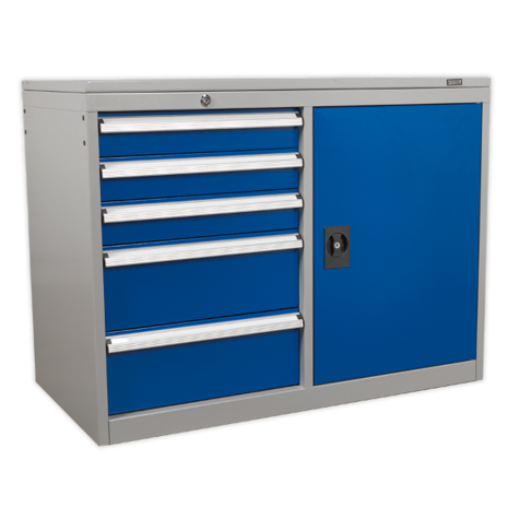 Workstation Sealey API1103B Industrial Cabinet 5 Drawer