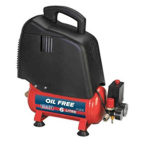Compressor Sealey SAC00615 6ltr Oil Free Belt Drive