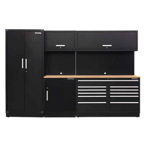 Storage System Combo Sealey APMSCOMBO2W - Oak Worktop