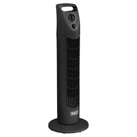 "Oscillating Tower Fan STF30 Sealey 3-Speed 30"" 230V"