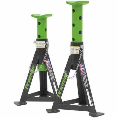 Axle Stands Sealey AS3G (Pair) 3tonne Capacity per Stand Green