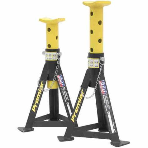 Axle Stands Sealey AS3Y (Pair) 3tonne Capacity per Stand Yellow