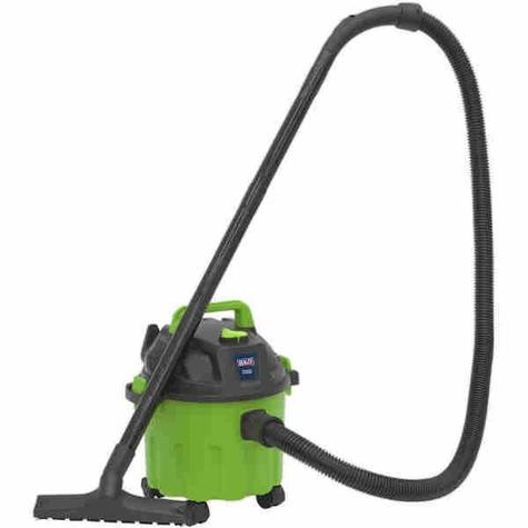 Vacuum Cleaner Sealey PC102HV Wet & Dry 10ltr 1000W - Hi-Vis Green