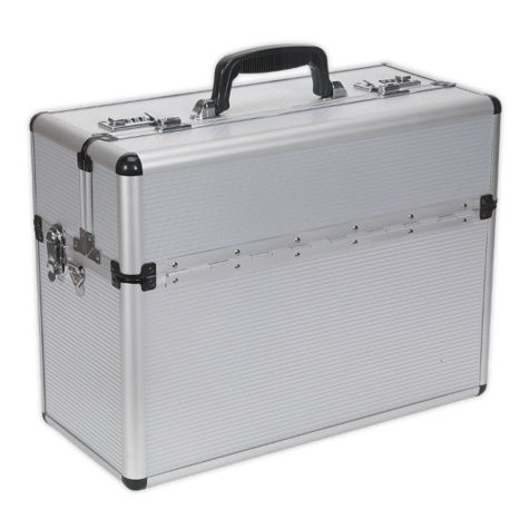 Tool Case Sealey AP605 Fully Polished Aluminium