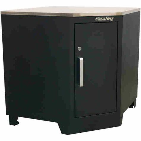Corner Floor Cabinet Sealey APMS15 Modular 930mm Heavy-Duty