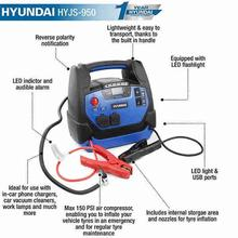 Jump Starter Hyundai HYJS-950 12v All In One With Air Compressor with text features