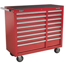 Sealey AP41169 Rollcab 16 Drawer with Ball Bearing Runners Heavy-Duty - Red