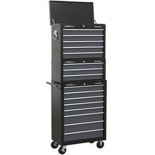 Tool Chest Sealey AP35STACK Combination 16 Drawer - Black/Grey