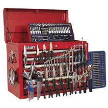Sealey AP33109COMBO Topchest 10 Drawer - Ball Bearing Runners - Red with 137pc Tool Kit