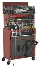 Sealey AP2200COMBO9 6 Drawer Topchest & Rollcab Combination - Red/Grey with FREE Tools