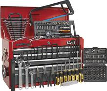 Sealey AP22509BBCOMB Topchest 9 Drawer - Ball Bearing Runners - Red/Grey with 196pc Tool Kit