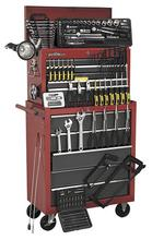 Sealey AP2250BBCOMBO Tool Chest Combination 14 Drawer - Ball Bearing Runners - Black/Grey with 239pc Tool Kit