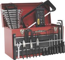 Sealey AP9243BBCOMBO Portable Topchest 3 Drawer - Ball Bearing Runners - Red with 74pc Tool Kit