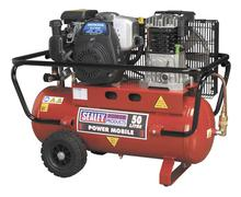 Sealey SA5040 Compressor 50ltr Belt Drive Petrol Engine 4.0hp