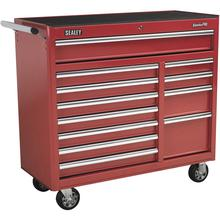 Sealey AP41120 Rollcab 12 Drawer with Ball Bearing Runners Heavy-Duty - Red