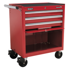 Sealey AP33439 Rollcab 3 Drawer with Ball Bearing Runners - Red