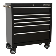 Sealey PTB93006 Rollcab 6 Drawer 930mm Heavy-Duty Black