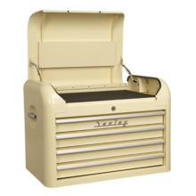 Sealey AP28104 Topchest 4 Drawer Retro Style Cream