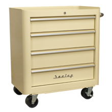Sealey AP28204 Rollcab 4 Drawer Retro Style Cream