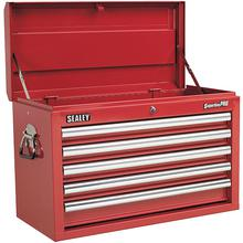 Sealey AP33059 Topchest 5 Drawer with Ball Bearing Runners - Red