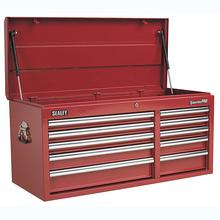 Sealey AP41110 Topchest 10 Drawer with Ball Bearing Runners Heavy-Duty - Red