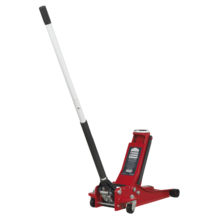 Sealey 2001LERE Trolley Jack 2tonne Low Entry Rocket Lift Red