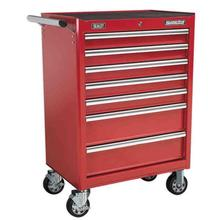 Sealey AP33479 Rollcab 7 Drawer with Ball Bearing Runners - Red