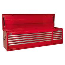 Sealey AP6610 Topchest 10 Drawer with Ball Bearing Runners Heavy-Duty - Red