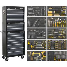 Sealey AP35TBCOMBO Tool Chest Combination - Black/Grey & 420pc Tool Kit