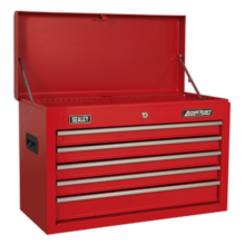 Topchest Sealey AP225 5 Drawer with Ball Bearing Slides - Red