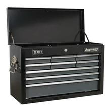 Sealey AP2509B Topchest 9 Drawer with Ball Bearing Runners - Black/Grey