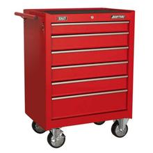 Rollcab Sealey 6 Drawer with Ball Bearing Slides - Red